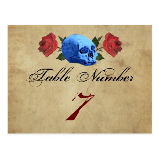 Pirate/Rock/Gothic Table Number Cards