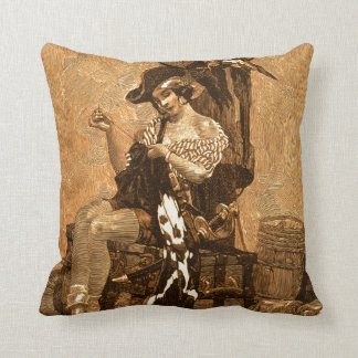 Pirate's Own Betsy Ross Sewing The 1st Jolly Roger Throw Pillow
