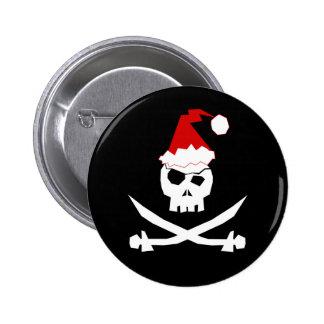 Pirate Santa 6 Cm Round Badge
