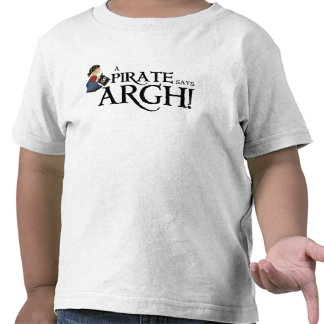 Pirate says ARGH Tshirts