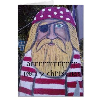 PIRATE SAYS ARRRRRRRRRRR MERRY CHRISTMAS GREETING CARD