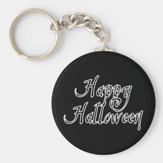 Pirate Scrawl Happy Halloween Basic Round Button Key Ring