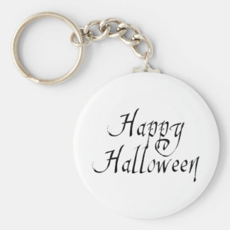 Pirate Scrawl Happy Halloween Basic Round Button Key Ring