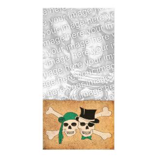 pirate scroll customized photo card