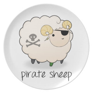Pirate Sheep Plate