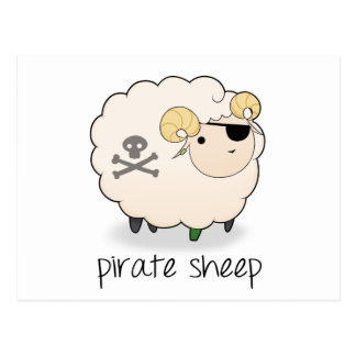 Pirate Sheep Postcard