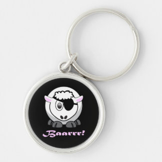 Pirate Sheep with Eyepatch Key Ring