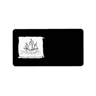 Pirate Ship. Address Label