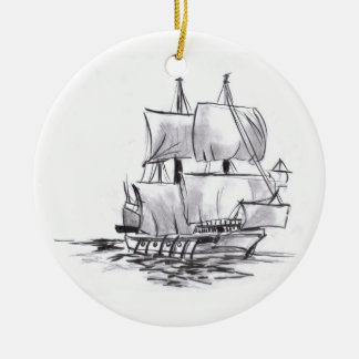 Pirate Ship Art Ornament