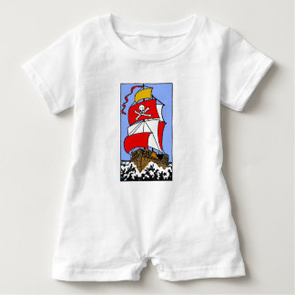 Pirate Ship Baby Bodysuit