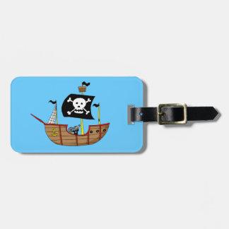 Pirate ship bag tags