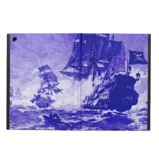 PIRATE SHIP BATTLE IN blue iPad Air Cases