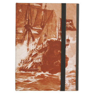 PIRATE SHIP BATTLE IN brown Cover For iPad Air