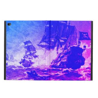 PIRATE SHIP BATTLE ,Pink Blue Sunset