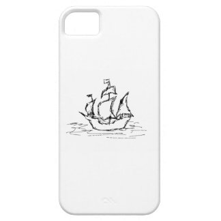 Pirate Ship. Black and White. iPhone 5 Cases