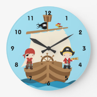 Pirate Ship Boy Wall Clocks