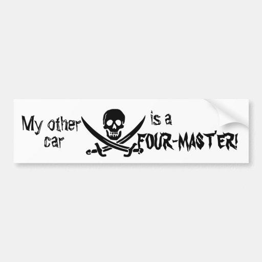 Pirate Ship Bumper Sticker