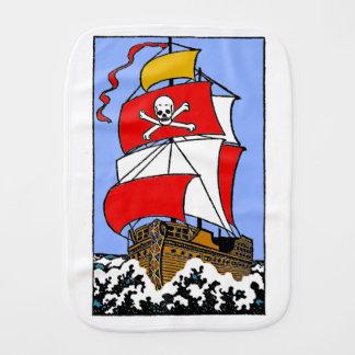 Pirate Ship Burp Cloth
