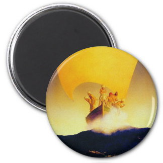 Pirate Ship - by Maxfield Parrish 6 Cm Round Magnet