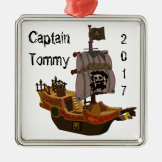 Pirate ship Captain Ornament