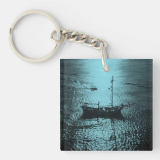 Pirate Ship custom Double-Sided Square Acrylic Key Ring