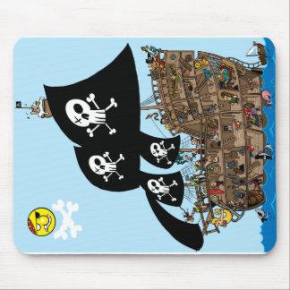 Pirate Ship Escape Mouse Mat