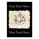 Pirate Ship. Greeting Card