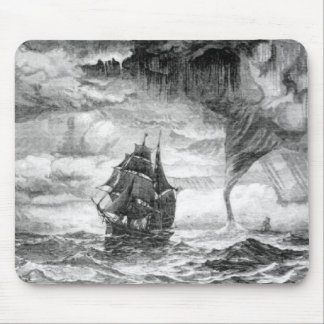 Pirate Ship in a Storm Mouse Pad