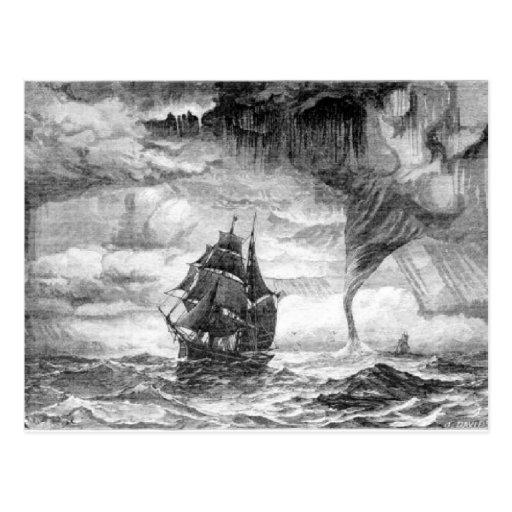 Pirate Ship in a Storm Postcard