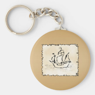 Pirate Ship. Key Ring