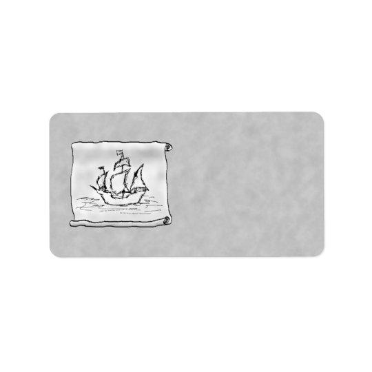 Pirate Ship. Label