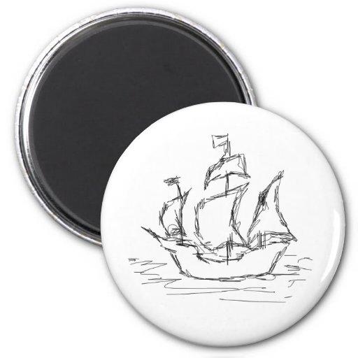 Pirate Ship. Magnet