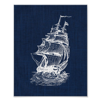 Pirate Ship Nautical Print