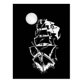 Pirate Ship on the High Seas Post Card