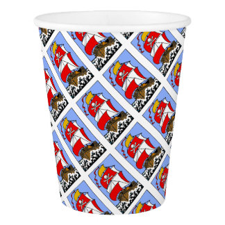 Pirate Ship Paper Cup