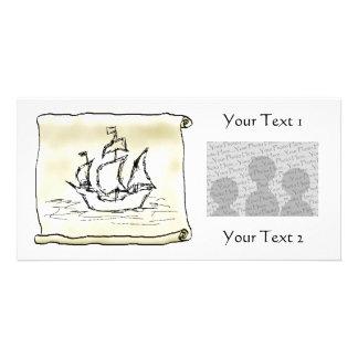 Pirate Ship. Photo Card Template