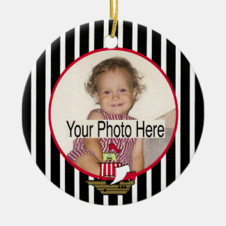 Pirate Ship Photo Christmas Ornament