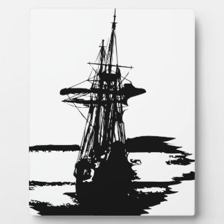 pirate ship plaque