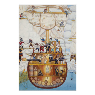 Pirate Ship Poster / Print