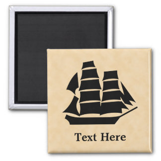 Pirate Ship. Sailing Ship. Magnet