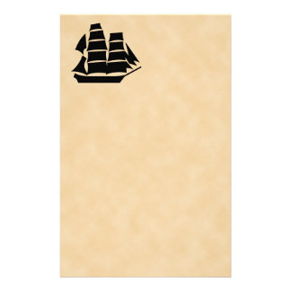 Pirate Ship. Sailing Ship. Stationery