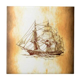 pirate ship ceramic tiles