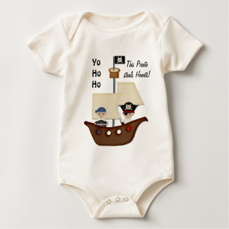 Pirate Ship Treasure Baby Baby Bodysuit