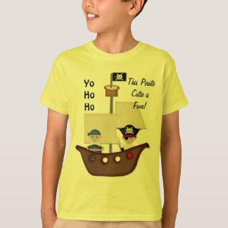 Pirate Ship Treasure Fourth Birthday T-Shirt