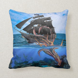 Pirate Ship vs The Giant Squid Cushion