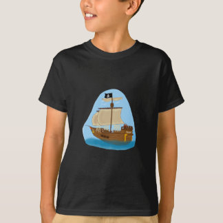Pirate Ship with Flag T-Shirt