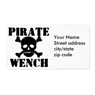 Pirate Shipping Label