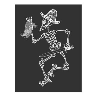 Pirate Skeleton Map t Postcard