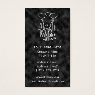 Pirate Sketch. Black and White. Business Card