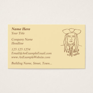Pirate Sketch. Brown. Business Card